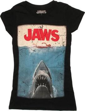 Jaws Poster Black Baby Tee