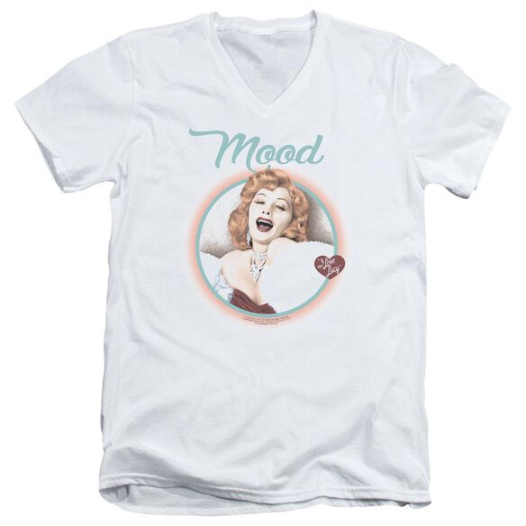 I Love Lucy Mood Short Sleeve Adult V Neck T-Shirt