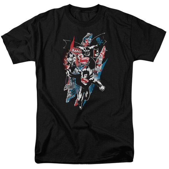 Batman V Superman Ripped Trio 2 Short Sleeve Adult Black T-Shirt