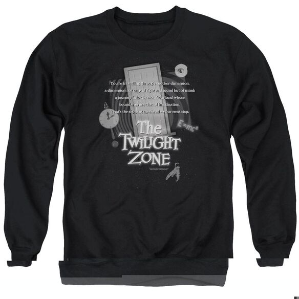 Twilight Zone Monologue - Adult Crewneck Sweatshirt - Black