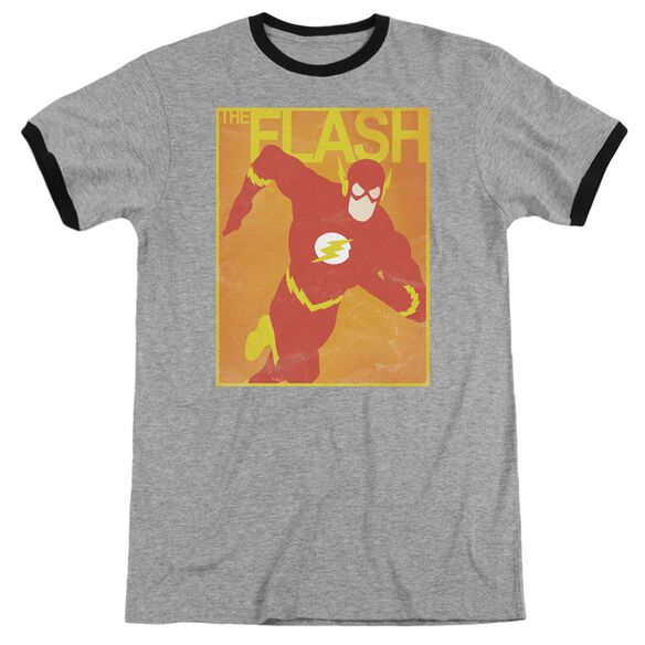 Jla Simple Flash Poster Adult Ringer Heather Black
