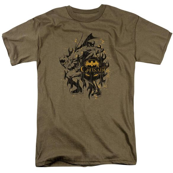 Batman Be Afraid Short Sleeve Adult Safari Green T-Shirt