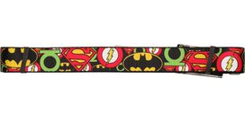 Justice League Overlapping Logos Mesh Belt