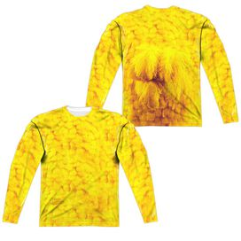 Sesame Street Big Bird Costume (Front Back Print) Long Sleeve Adult Poly Crew T-Shirt
