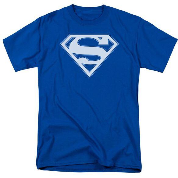 Superman & White Shield Short Sleeve Adult Royal T-Shirt