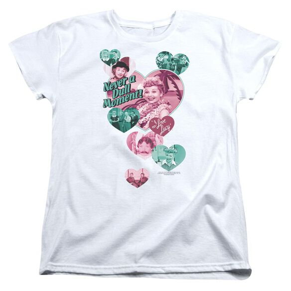 I Love Lucy Never A Dull Moment Short Sleeve Womens Tee T-Shirt