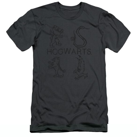 Harry Potter Literary Crests Hbo Short Sleeve Adult T-Shirt