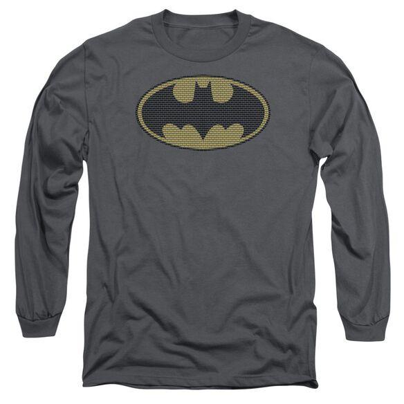 Batman Little Logos Long Sleeve Adult T-Shirt