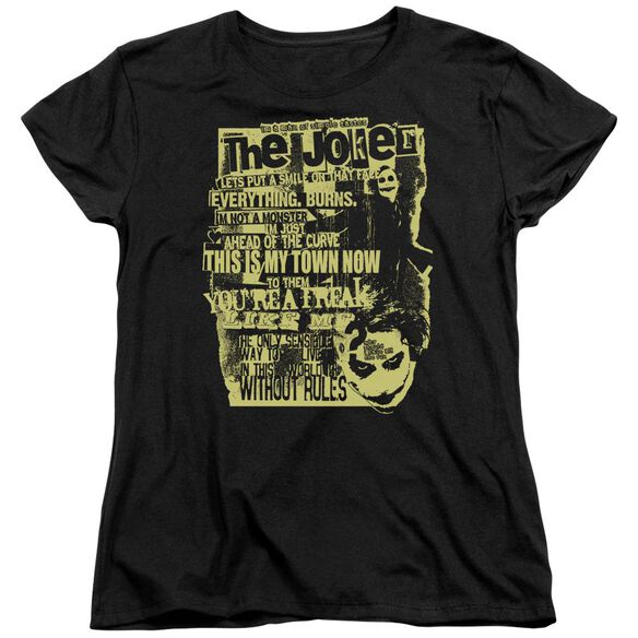 Dark Knight Quote Me On It Short Sleeve Womens Tee T-Shirt