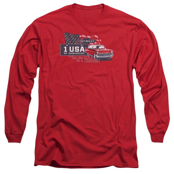 Chevrolet See The Usa Long Sleeve Adult T-Shirt