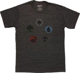 Magic The Gathering Mana Group Heather T-Shirt