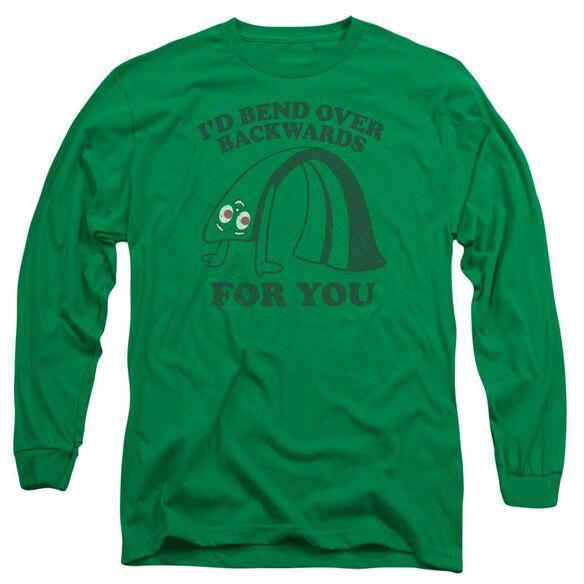 Gumby Bend Backwards Long Sleeve Adult Kelly T-Shirt