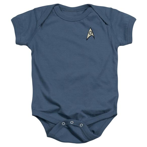 Star Trek Science Uniform Infant Snapsuit Indigo Lg