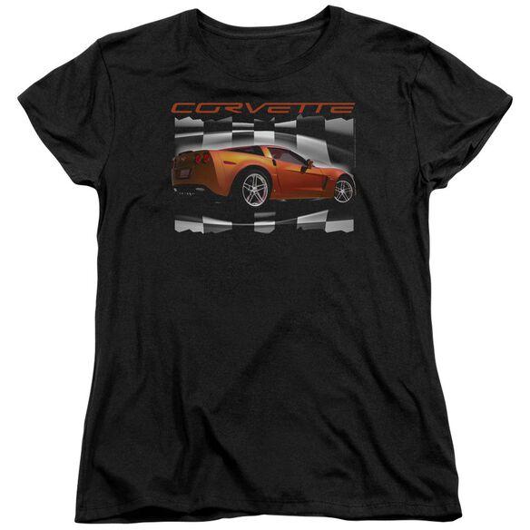 Chevrolet Orange Z06 Vette Short Sleeve Womens Tee T-Shirt