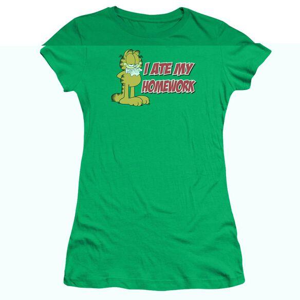 GARFIELD I ATE MY HOMEWORK-S/S JUNIOR T-Shirt