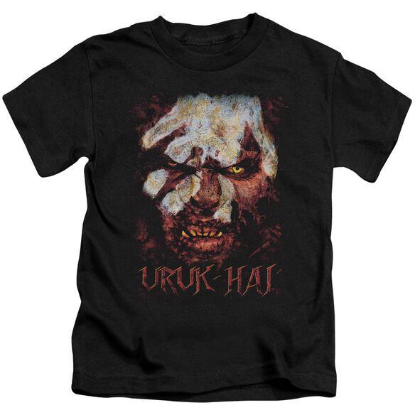 Lor Uruk Hai Short Sleeve Juvenile Black T-Shirt