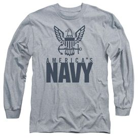 Navy Eagle Logo Long Sleeve Adult Athletic T-Shirt