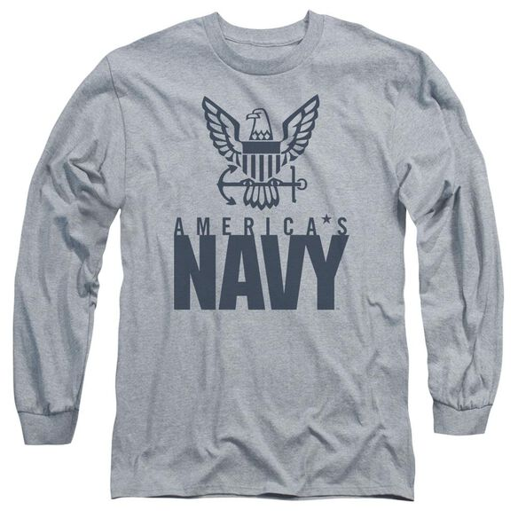 Navy Eagle Logo Long Sleeve Adult Athletic T-Shirt