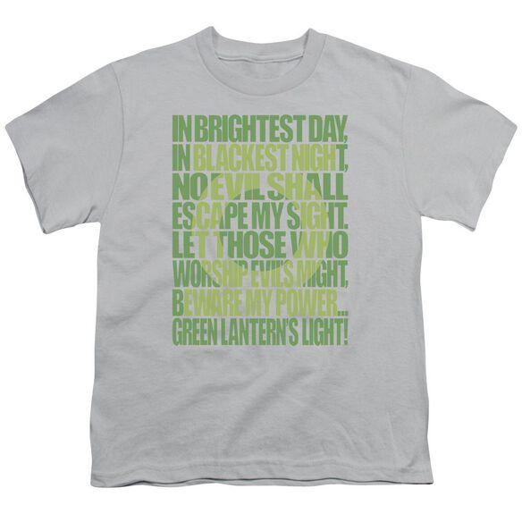 Green Lantern Green Lantern Oath Short Sleeve Youth T-Shirt