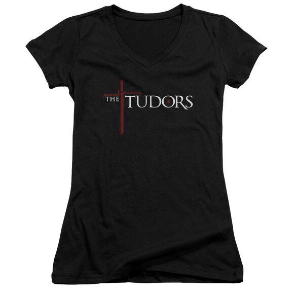 Tudors Logo - Junior V-neck - Black