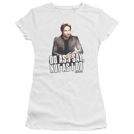Californication Do As I Say Short Sleeve Junior Sheer T-Shirt