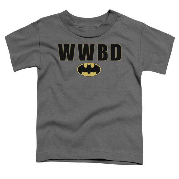 Batman Wwbd Logo Short Sleeve Toddler Tee Charcoal Md T-Shirt