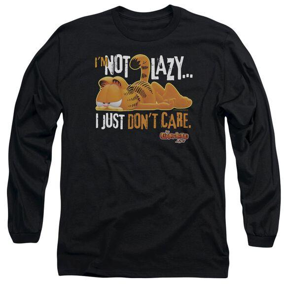 GARFIELD NOT LAZY - L/S ADULT 18/1 - BLACK T-Shirt