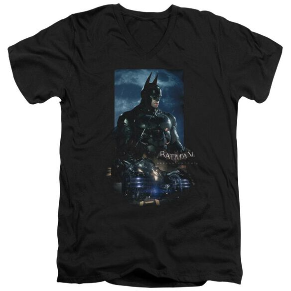 Batman Arkham Knight Batmobile Short Sleeve Adult V Neck T-Shirt