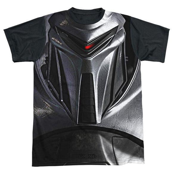 Bsg Cylon Face Short Sleeve Adult Front Black Back T-Shirt