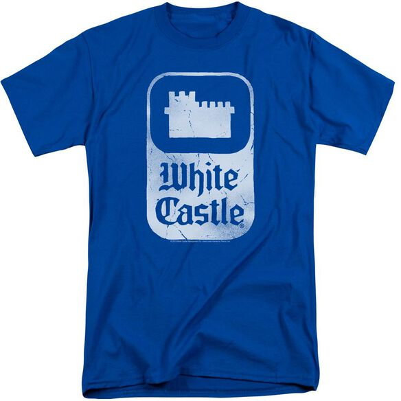 White Castle Classic Logo Short Sleeve Adult Tall Royal T-Shirt