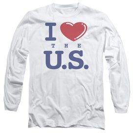 I Love The Us Long Sleeve Adult T-Shirt