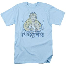 She Ra Power Short Sleeve Adult Light Blue T-Shirt