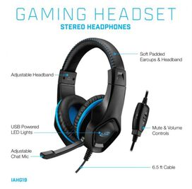 iLive Gaming Headset: Stereo Headphones