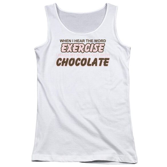 Exercise Chocolate Juniors Tank Top