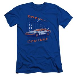 BACK TO THE FUTURE LIGHTNING STRIKES - S/S ADULT 30/1 - ROYAL BLUE - SM - ROYAL BLUE T-Shirt