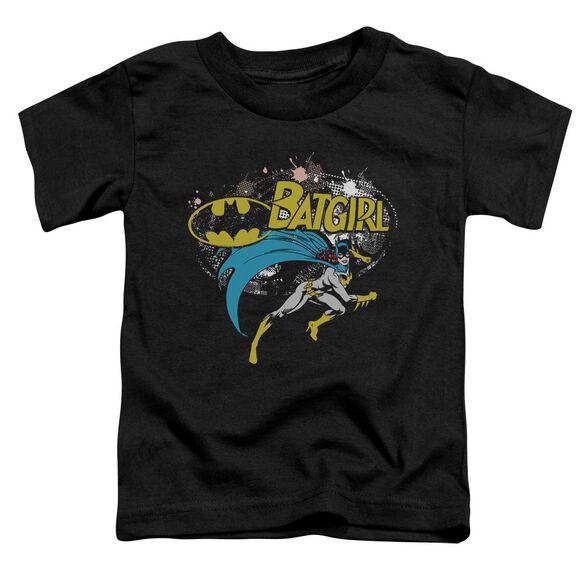 Batman Batgirl Halftone Short Sleeve Toddler Tee Black Sm T-Shirt