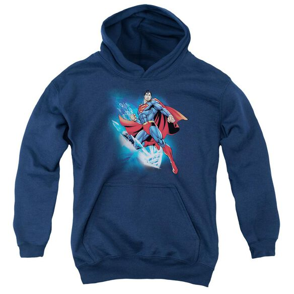 Superman Crystallize Youth Pull Over Hoodie