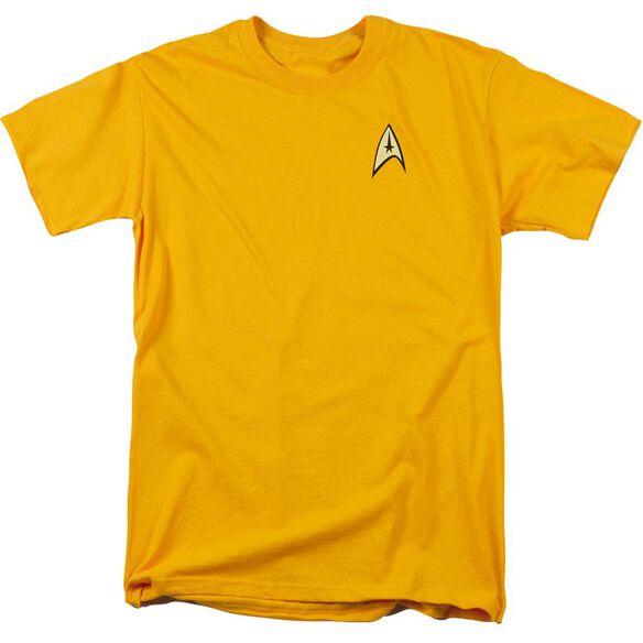 STAR TREK COMMAND UNIFORM - S/S ADULT 18/1 - Gold T-Shirt
