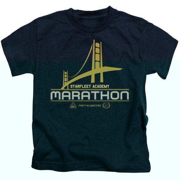 Star Trek Marathon Logo Short Sleeve Juvenile Navy T-Shirt