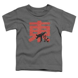 Hai Karate Hk Kick Short Sleeve Toddler Tee Charcoal Sm T-Shirt