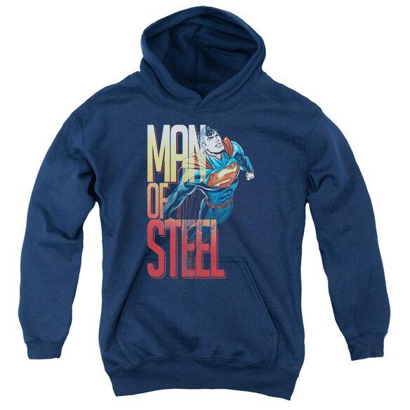 Superman Steel Flight Youth Pull Over Hoodie