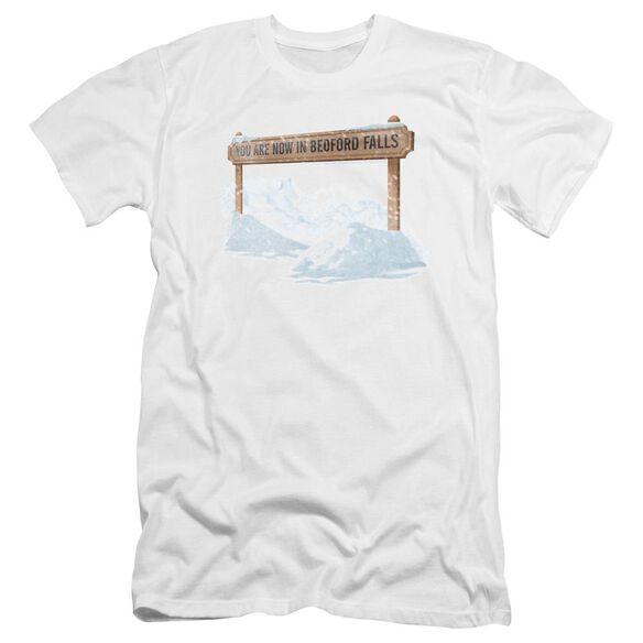 Its A Wonderful Life Bedford Falls Premuim Canvas Adult Slim Fit