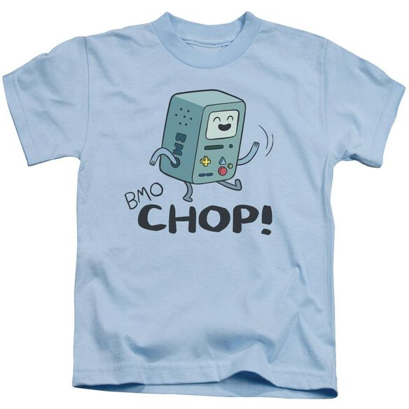 Adventure Time Bmo Chop Short Sleeve Juvenile Light Blue T-Shirt