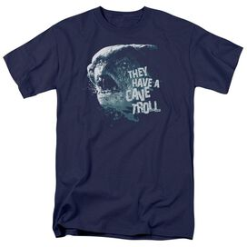 Lor Cave Troll Short Sleeve Adult Navy T-Shirt