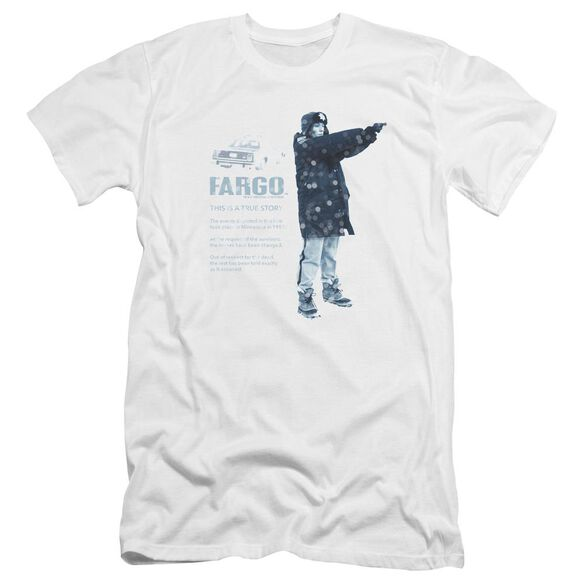 Fargo This Is A True Story Premuim Canvas Adult Slim Fit