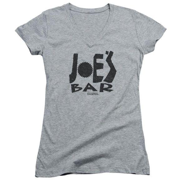 Bsg Joes Bar Logo Junior V Neck Athletic T-Shirt