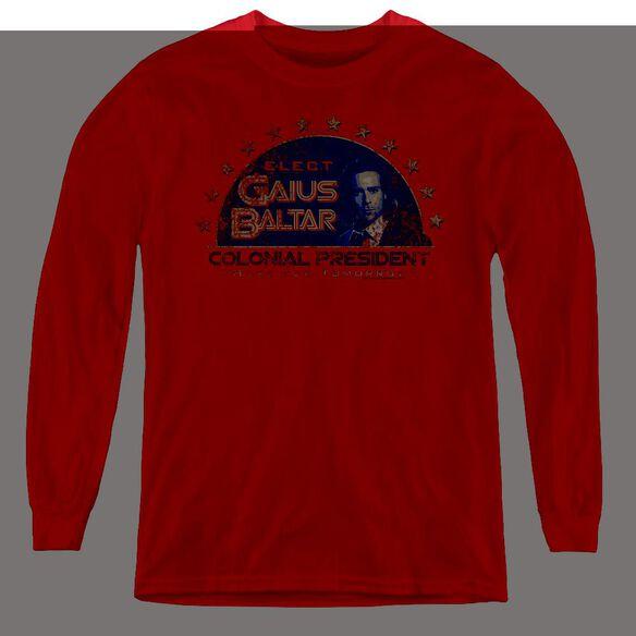 Bsg Elect Gaius - Youth Long Sleeve Tee - Red