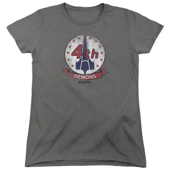 Bsg Demons Badge Short Sleeve Womens Tee T-Shirt