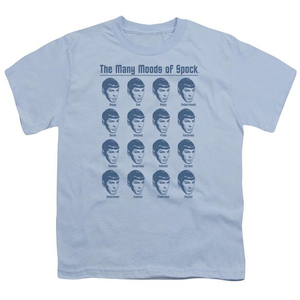 Star Trek Many Moods Of Spock Short Sleeve Youth Carolina T-Shirt