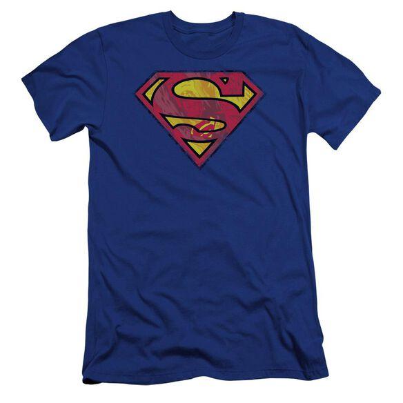 Superman Action Shield Premuim Canvas Adult Slim Fit Royal